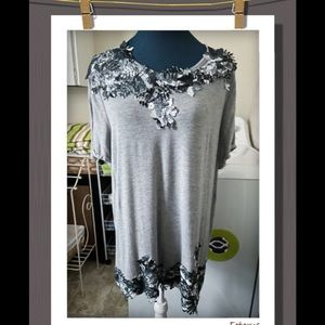 Floral Lace Applique' Top